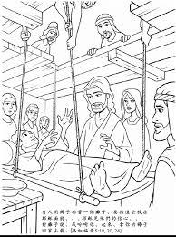 jesus heals paralyzed man coloring page eson me