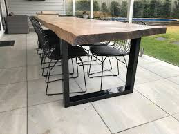 live edge outdoor table live edge outdoor table with metal legs my house pinterest
