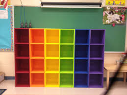 diy rainbow cubbies this looks awesome in my classroom so easy