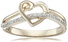 heart design rings images Gold design ring jpg