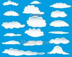 stock photo set different shape clouds design usage image