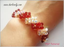 red crystal bracelet images Red crystal flower bracelet tutorial jpg