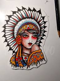 8 best native skull traditional tattoo images on pinterest