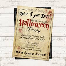 halloween party invitation creepy vintage old paper skeleton
