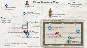 map of xi an xi an map xi an tourism map and terracotta army route map