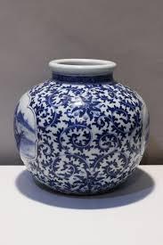 Blue And White Vase A Blue And White Vase John Brand Oriental Art