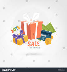 christmas gift boxes sale concept online stock vector 215497513