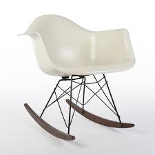 white herman miller original eames rar arm shell chair eames