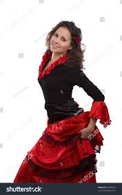 Spanish Dancer Halloween Costume Woman Wearing Fancy Dress Halloween Stock Photo 39188437