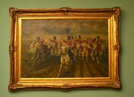 oil painting charge scots greys waterloo butler