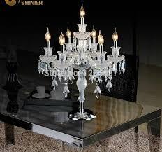 tavoli di cristallo sala da pranzo nuovo arrivo lada da tavolo candela candelabri di cristallo