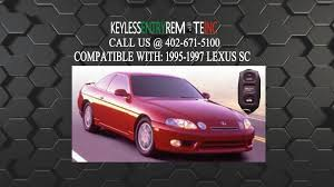 lexus key fob cover replacement how to replace lexus sc key fob battery 1995 1996 1997 youtube