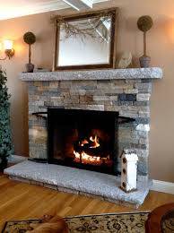 unique stacked stone fireplace surround slate idolza