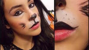 easy face makeup for halloween last minute cat halloween makeup tutorial youtube