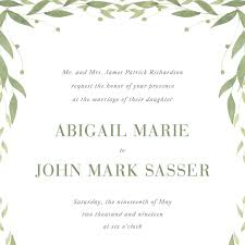 wedding invitations greenery greenery border wedding invitation