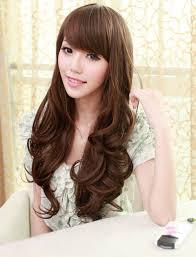 women curly hair cut in korea korean girls long hairstyles cute