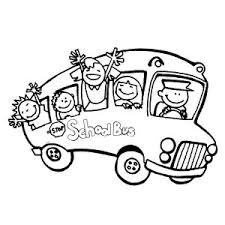 take a bus for first day of coloring page take a
