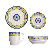 cuisinart peony collection 16 dinnerware set in white cdst