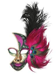 pink mardi gras mask mask mardi gras pink feathered fancy that