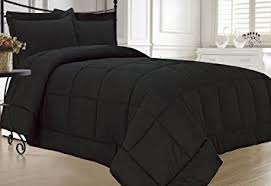 Twin Extra Long Comforter Amazon Com Kinglinen Black Down Alternative Comforter Set Extra