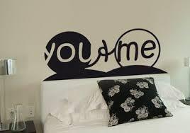 sticker pour chambre sticker tête de lit you me adhésif déco de chambre grand format