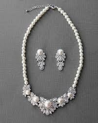 vintage necklace sets images Vintage jewelry necklace set of ivory pearls and cz cassandra lynne jpg
