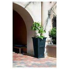 Tall Rectangular Planter by 40 U0027 Rectangle Fairfield Tall Planter Black Mayne Target
