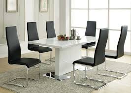 Contemporary Black Dining Chairs Coaster Mix Match White Dining Set Black Chair 102310 Blk