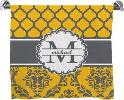 Yellow Bath Mat Damask U0026 Moroccan Bath Mat Personalized Potty Training Concepts