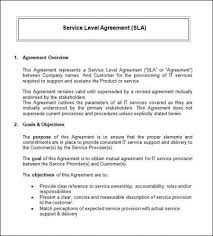 examples of help desk service level agreements help desk service