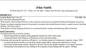 Sample Investment Banking Resume by Surprising Inspiration Investment Banking Resume Example 3 Cv