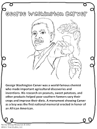 washington carver coloring page
