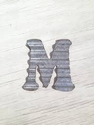 corrugated metal wall letters home decor initial rustic