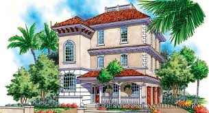 house plan villa caprini sater design collection