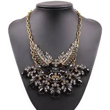 bib necklace aliexpress images 2018 new fashion design model gold chain sexy crystal bib chunky jpg