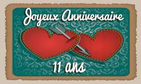 11 ans de mariage carte anniversaire mariage 11 ans virtuelle gratuite à imprimer