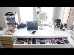 Vanity With Storage Makeup Collection U0026 Storage 2013 Vanity Tour Youtube