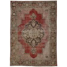 Modern Area Rugs For Sale by Distressed Vintage Turkish Oushak Area Rug With Modern Industrial