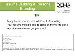 Linkedin And Resume Personal Branding And Resume Building Dema 2016