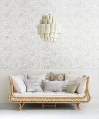 neutral natural avalon daybed palm wallpaper via serena
