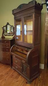 Antique Secretary Desk With Bookcase by Victorian Mahogany Plantation Barrell Rolltop Secretary Desk W