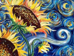 sunflowers tutorial vincent van gogh starry night beginner