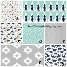 Customize Your Own Bed Set Woodland Baby Bedding Crib Sheet Changing Pad Cover Crib Skirt