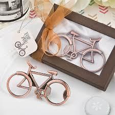 bottle opener favor vintage bicycle design antique copper color metal bottle opener