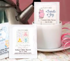 Tea Baby Shower Favors by Personalized Tea Favors Baby Shower Favors