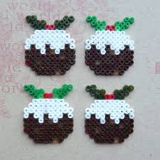 hama bead christmas puddings how to make a beaded card other
