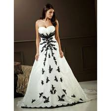 black and white wedding dresses white wedding dresses with black accents pictures ideas guide to