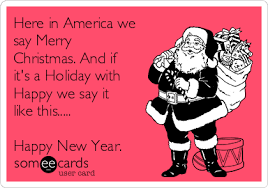 here in america we say merry and if it s a with