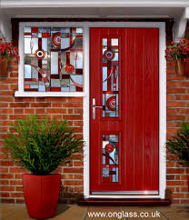 bevelled glass door custom stained glass windows