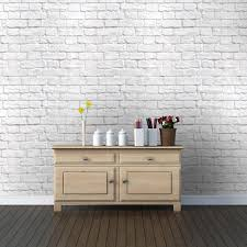 painted brick wall interior design neutral white brick wall